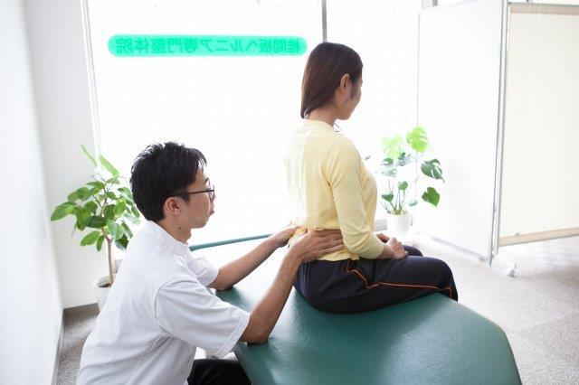 腰の骨の調整