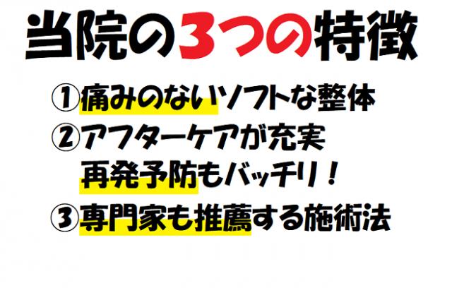 昭和町カイロプラクティック院 3つの特徴