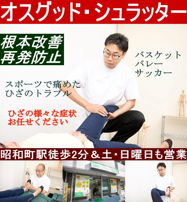昭和町カイロプラクティック院 top画像 オスグッド・シュラッター病