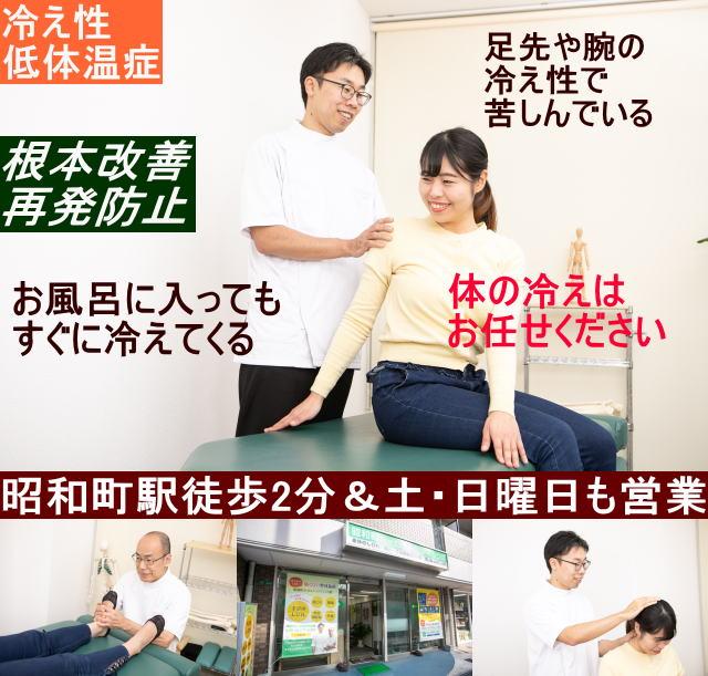 昭和町カイロホームページ 冷え性トップ画像